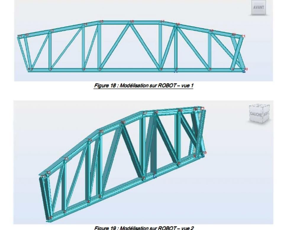 Modélisation d'une charpente métallique et calcul de sa capacité portante