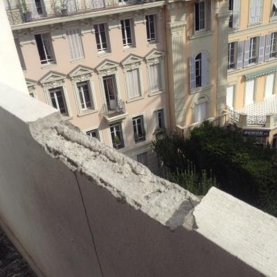 Diagnostic fissures sur un hôtel à Nice (06)