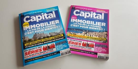 Pleine page dans le magazine CAPITAL spécial immobilier - Septembre 2018