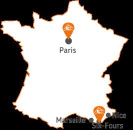 Localisation des agences de Betex Ingénierie